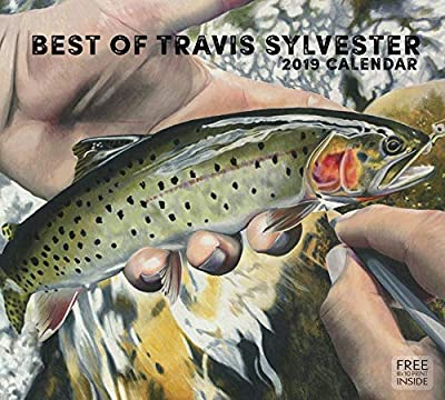 "2019 Travis Sylvester Wall Calendar- 13.375""x12""- Fly Fishing- Trout by Altus Fine Art"