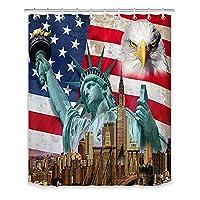 星条旗アメリカ国旗シャワーカーテンアメリカ独立記念日家のバスルームの装飾バスカーテン防水大