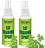 Colton's Naturals 100% Cat & Kitten Training Aid w/Bitter - Cat Repellent Spray 2-4 oz for Outdoor and Indoor USE- Furniture Protector- Anti Scratch- Make Boundaries - USA Made