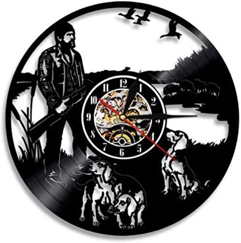 YDZYXY Regalo Reloj de Pared de Vinilo Reloj de Pared Decoración de Pared de Caza Retro Home Art Deco Regalo 12 Pulgadas -12 pulgadasUGT550