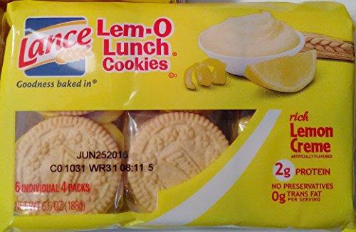 Lem-o-lunch Cookies (4 Pack) Lemon Creme Cookies