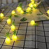 Kingko Solar LED Ananas, 20 LED Warmweiß Außen Wasserdichte lichterkette Dekorative für Garten,...