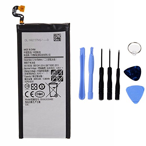 Generico Batería de alta capacidad 3600 mAh compatible con Samsung Galaxy S7 Edge G935F con kit de herramientas incluido