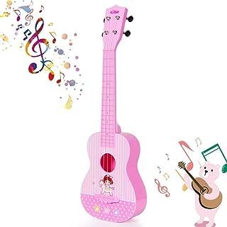 HANMUN Unicorn Musical Ukulele Guitar Toys Baby Toddler Guitar Toy 2019 Pink Guitar Musical Instruments Educational Toys for Kids Children Adult Children (Pink)