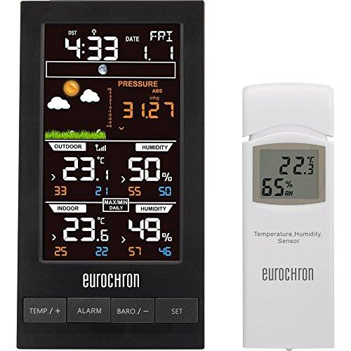 Eurochron EFWS S250 EFWS S250 Funk-Wetterstation Vorhersage für 12 bis 24 Stunden