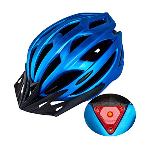ZIXIXI Casco de bicicleta, cascos de ciclismo y accesorios, casco ligero, casco de bicicleta de carretera para hombre y mujer, para montar en bicicleta, seguridad adulta, con luz LED, 54 – 61 cm