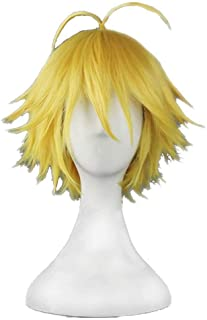 NiceLisa Masquerade Evening Party Cosplay Wig Short Yellow Golden Styled Boy Male Anime Role Play Wigs