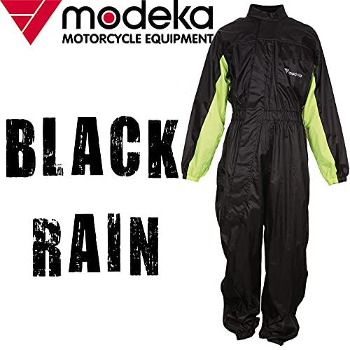 Modeka Black Rain Regenkombi 1 Teiler XXXXL Schwarz/Gelb