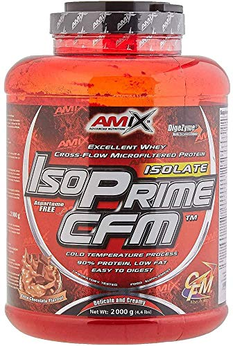 AMIX - Proteína Isolada - IsoPrime CFM Isolate Protein - 2 Kg - Gran Aporte de Aminoácidos - Contiene Enzimas Digestivas - Libre de Aspartamo - Proteínas para Aumentar Masa Muscular - Sabor Chocolate