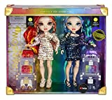 Rainbow High, Special Edition Twin (2-Pack) Fashion Dolls, Laurel & Holly De'Vious –Dressed in Multicolored Rainbow Metallic Printed Outfits with Doll Accessories, Great Gift/Toy for Kids 6-12