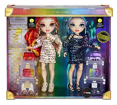 Rainbow High Edizione Speciale Twins Laurel e Holly DE'VIOUS Confezione da 2-Bambole alla...