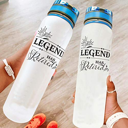 Taza para beber – 32 onzas The Legend Has Retired Fast Flow Clear botella de agua para deportes al aire libre blanco 1000 ml