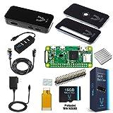Raspberry Pi Zero W Complete Starter Kit-Premium Black Case Edition-Includes Pi Zero W and 7 Essential Accessories