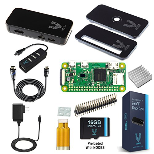 Vilros Raspberry Pi Zero W Complete Starter Kit w/ 7 Essential Accessories