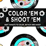 """Color'em & Shoot'em: 60 8x8"""" Targets to color, detach and shoot with firearms, airsoft, BB, pellet, bows, foam darts, and paintball guns. (Gabble Design Coloring Books)"""