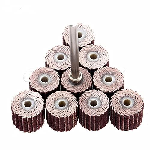 10 pezzi accessori 240-grit levigatura disco lamellare levigatura levigatura ruote lamellari spazzola sabbia utensile rotante 10 x 10 x 3 mm
