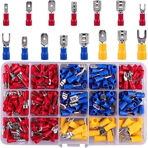 Kabelschuhe Set, 720 Stück Quetschverbinder, Kabelschuhe, Elektrische Steckverbinder Sortiment, Kabelschuhe Flachsteckhülsen, Kabelschuh für Isoliert