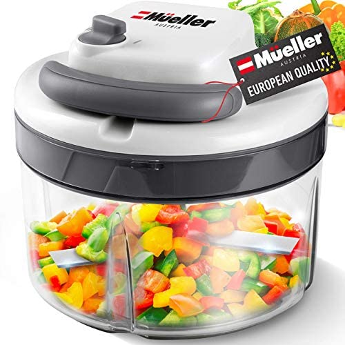 Mueller Austria Chopper Dual Speed Ultimate Pull Food Vegetable Nuts and Garlic Chopper Manual product image