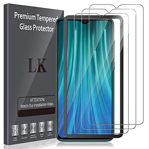 LK 4 Pack Compatibile con Xiaomi Redmi Note 8 PRO 3 Pezzi Pellicola Protettiva, 9H Durezza Vetro Temperato & 1 Pezzi Strumento Una Facile Installazione, Protezione Schermo Screen Protector, LK-X-34