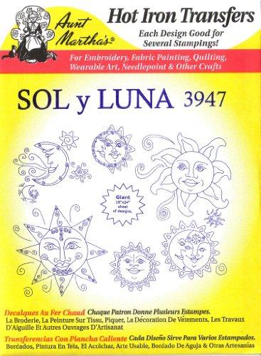 Sol Y Luna Aunt Martha's Hot Iron Embroidery Transfer