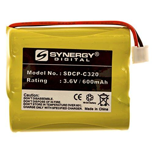 GE 27938GE5-B Cordless Phone Battery NI-CD, 3.6 Volt, 600 mAh, Ultra Hi-Capacity Battery - Replacement Battery for GE Rechargeable Cordless Phone Batteries