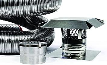 Fireside Chimney Supply FireFlex Basic Flexible Chimney Liner Kit - 6 Inch x 15 Feet