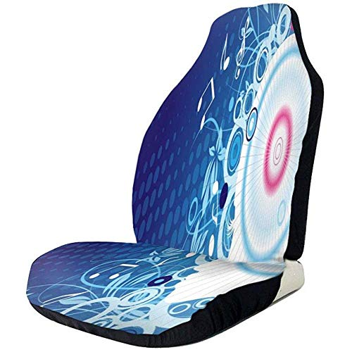 Joe-shop autostoelbekleding muzieknoot behang kuipstoelbeschermer universeel flexibele voorstoelbekleding