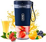 Mini Personal Portable Cordless Juicer, Small 10oz Juice Cup Smoothie Maker With USB Rechargeble...