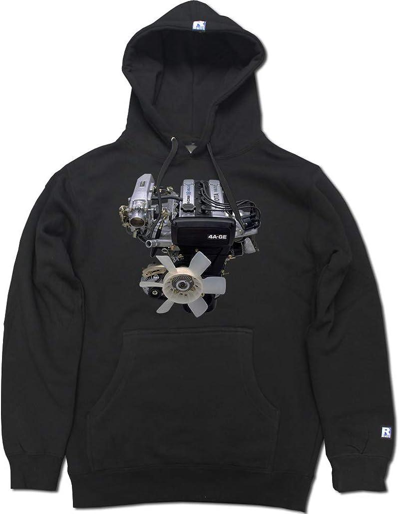 FTD Apparel R Built Men's 4AGE 16v Engine Pullover Hooded Sweater