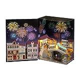 Nrkin, kit per casa delle bambole fai da te, con luce per mobili, giocattolo innovativo per bambini, da collezione per Natale, compleanno, San Valentino