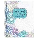 Cool Floral Card Organizer Book- Remember Special Days, Greeting Card Keeper, Softcover, 8' x 10', Spiral Bound
