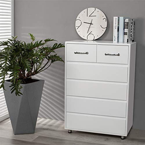 Best Deals! Dresser Rasoo Chest of Drawer White Bedroom Cabinet Small Storage Nightstand Living Room...