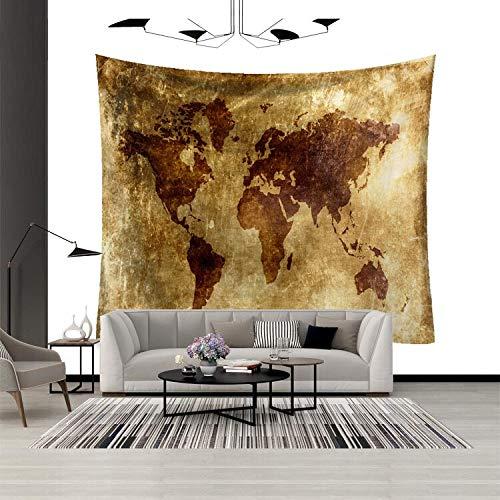 N / A Mapa del Mundo Tapiz Mural Mural Guardería Lavable Arte Apliques Decoración Funda de Cama Alfombra Sala de Estar Dormitorio Decoración de Fondo Tapiz de Tela A202 150x200cm
