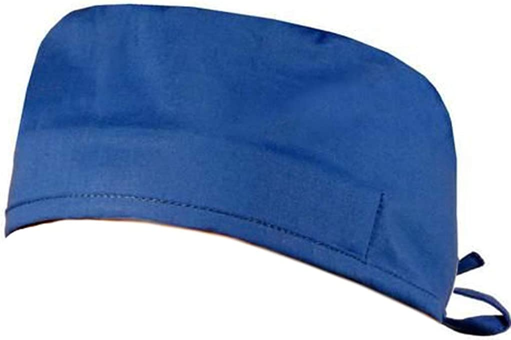 Mens and Womens Scrub Style Working Cap - Royal Blue