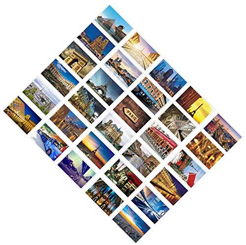 30 cartes postales rétro artistiques PCS, paysages du monde magnifique - Paris