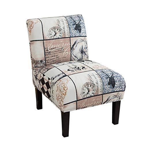Facai Stuhlhussen ohne Armlehnen, abnehmbar, Schonbezüge für Sofas einfach, elastisch, Sofabezug ohne Arm Modern #17 M