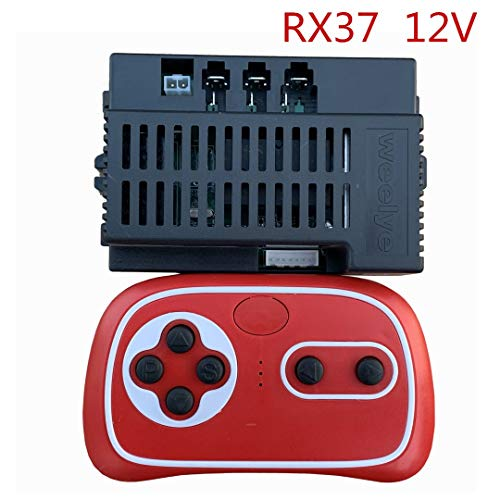 WEELYE RX37 12V 2.4G Bluetooth Remote Control and Receiver Kit Kids Powered Ride On Car,Controller Control Box Accessories for Children Electric Ride On Car Replacement Parts
