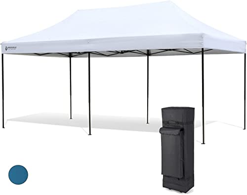 wholesale ARROWHEAD OUTDOOR 10'x20' sale Heavy-Duty Pop-Up Canopy & Instant Shelter, Easy One Person Setup, Water & UV Resistant Fabric, Height Adjustable, Wheeled sale Carry Bag, Guide Ropes & Stakes Included, USA-Based outlet online sale
