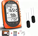 Wireless Meat Thermometer for Grilling, BBQ, Digital Meat Thermometer Instant Read, 330ft Long Range, Smart Timer & Alarm Mode, Bluetooth Food Smoker with 4 Probes for Oven Kitchen Cooking