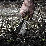 REDCAMP Mini pala de supervivencia, portátil, para camping, senderismo, para exteriores, jardín, color negro