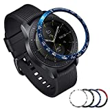 [Aluminum] Galaxy Watch 46mm Bezel Styling, Galaxy Gear S3 Frontier & Classic Bezel Ring Adhesive Cover Anti Scratch Aluminium Protection Tachymeter, design for the galaxy watch accessories -Blue