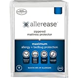 AllerEase Maximum Waterproof, Allergy and Bedbug Zippered Mattress Protector, Twin Sized –...