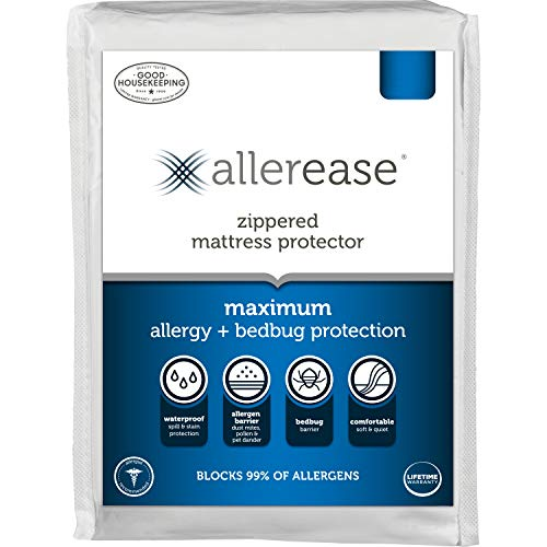 AllerEase Maximum Waterproof, Allergy and Bedbug Zippered...