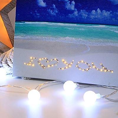 Longay LED Light Night Photo Wooden Photo Frame Home Office Wedding Decoration