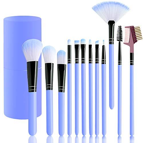 Pinselset Make up Pinsel Set schminkpinsel set mit augenbrauenpinsel,lidschattenpinsel,erröten pinsel,concealer pinsel,lip pinsel,Bürstenhalter(12 stücke)
