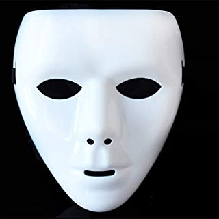 JYTT Halloween Mask Plastic V for Vendetta Chainsaw Benno Clown Shantou Elastic Band Adjustable Creepy Scary Props Cosplay for Masquerade Parties Bar Music Festival-r 18x13cm