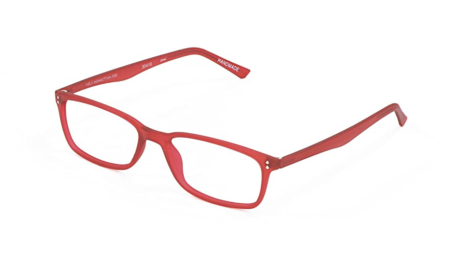Gels Lightweight Fashion Readers - The Original Reading Glasses for Men and Women - Manhattan Frame, Red (+2.00 Magnification Power)