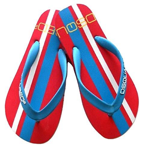 DSQUARED Flip-Flops, Unisex, Art. S10 L005 V942 Rot, Rot - Rosso Blu - Größe: 36 EU
