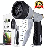HOSUN Garden Hose Nozzle High Pressure Heavy Duty Metal Hose Spray Nozzle 7...