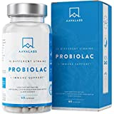 Probiotic Supplement [ 30 Billion ] 60 Time Release Capsules by Aava Labs - 15 - Strain Broad Spectrum Formula + Prebiotic - Including Lactobacillus Acidophilus and Bifidobacterium - Easy to Swallow - With added Immune Support - Free from Gluten, Lactose